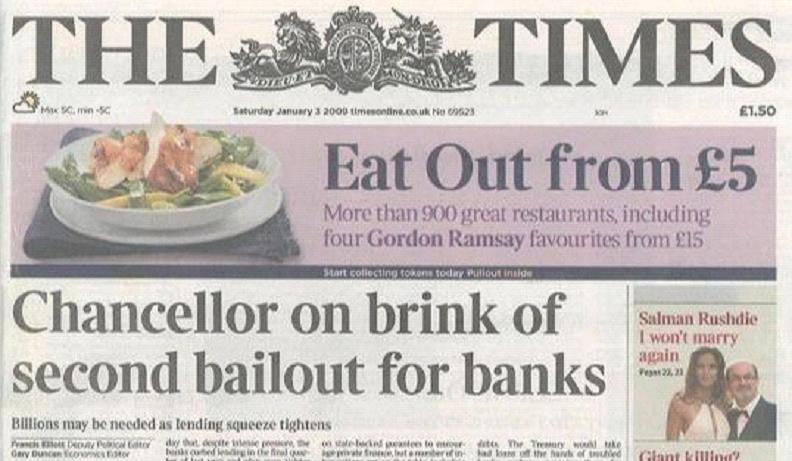 "Naslovna strana magazina ""The Times"""