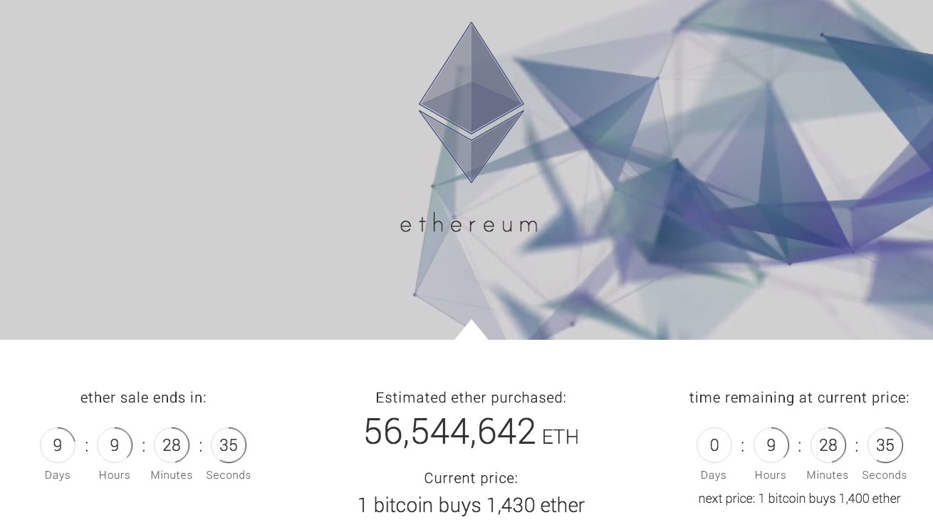 Ethereum crowdsale