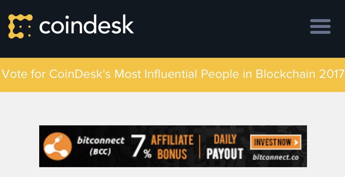Reklama za Bitconnect na Coindeks